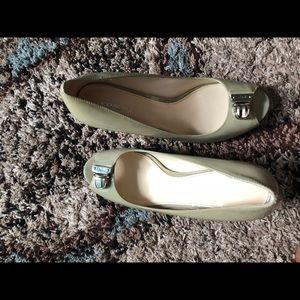 Coach Shoes - Authentic new COACH Open Toe Pump W/ Silver Buckle